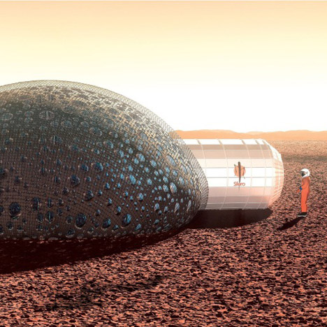 3D-printed bubble house proposed for living on Mars