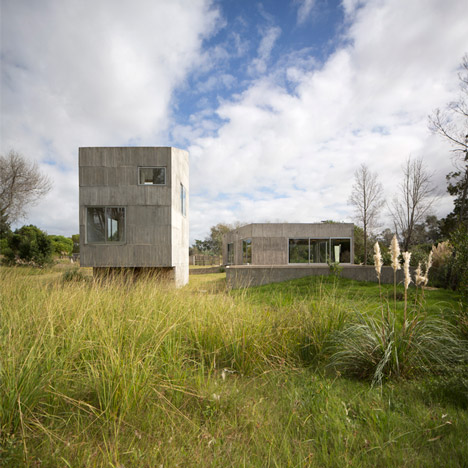 Concrete holiday homes by Adamo-Faiden occupy Uruguay's coastal woodland