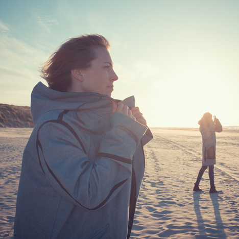 Pauline van Dongen's Solar Parka charges electronic devices for nature reserve workers