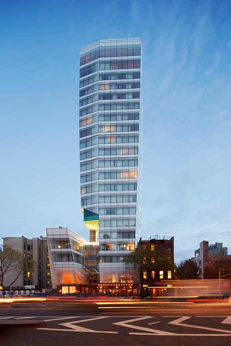 The exterior of The Standard East Village in New York. Photograph by Thomas Loof