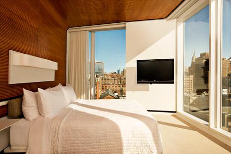 A room at The Standard High line in New York. Photograph by Thomas Loof