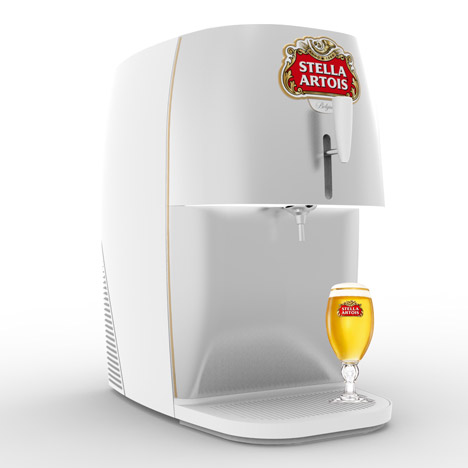Marc Thorpe designs a mini draught beer dispenser for Stella Artois