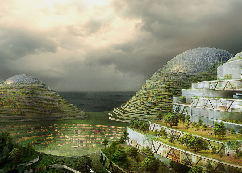 Studio Dror's proposed giant urban island off the coast of Istanbul