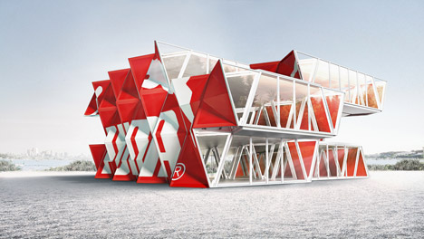 Studio Dror's proposal for a travelling pavilion for Puma