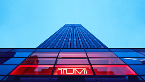 Studio Dror's Tumi store at 610 Madison Avenue, New York