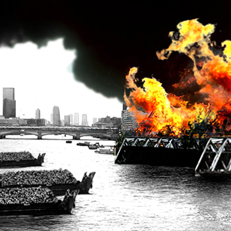 Eternal bonfire on the River Thames wins satirical contest to rival Heatherwick's Garden Bridge