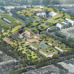 "Rafael Viñoly reveals plans for the ""largest green roof in the world"" in Silicon Valley"