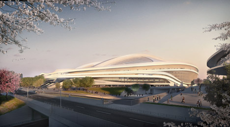 Zaha Hadid's design for the Tokyo 2020 Olympic stadium