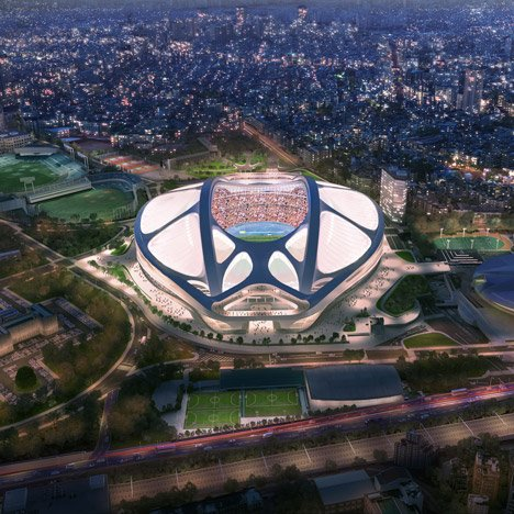Tokyo National Stadium latest images by Zaha Hadid Architects Japan