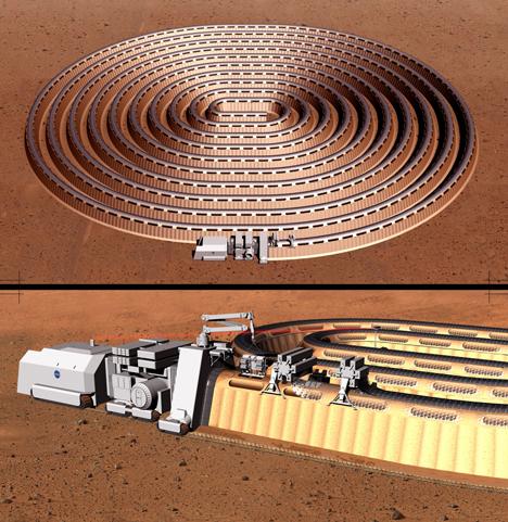 Mars habitat designed by Rustem Balshev