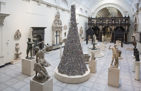 Tower of Babel by Barnaby Barford at London's V and A museum