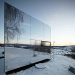 Casa Invisibile by Delugan Meissl is a low-cost portable house prototype clad in mirrors