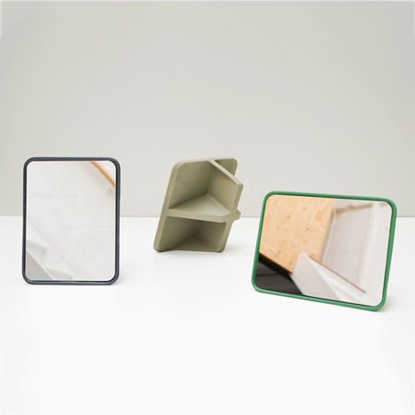 Oscar Diaz designs mirror that can be positioned at four different angles