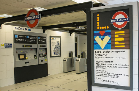 Wooden Tube Station by Camilla Barnard