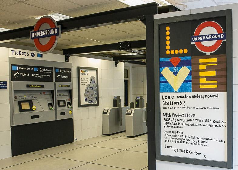 Wooden Tube Station by Camilla Barnard
