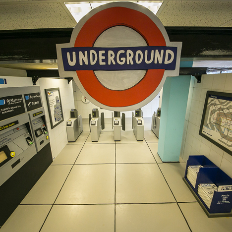 Camilla Barnard creates life-sized and hand-painted Wooden Tube Station