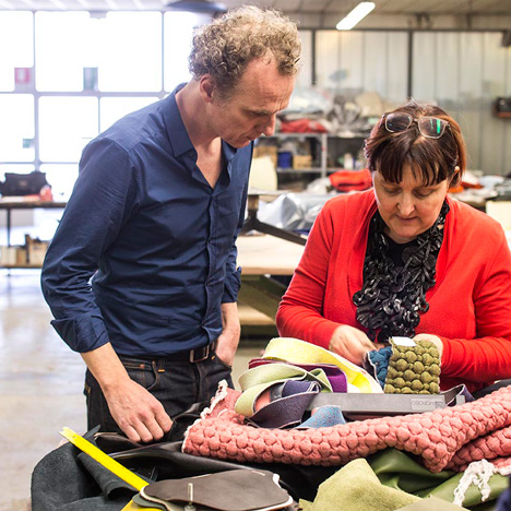 Richard Hutten with Moroso creative director Patrizia Moroso