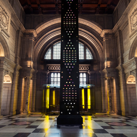 Kim Thomé installs giant crystal zoetrope inside London's V&A museum