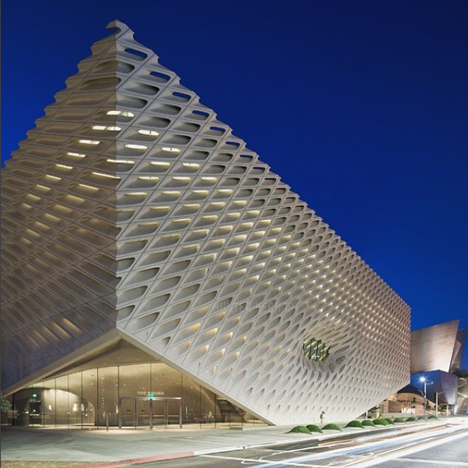 The Broad museum in Los Angeles, designed by Diller, Scofidio + Renfro