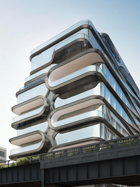520 West New York residential development by Zaha Hadid
