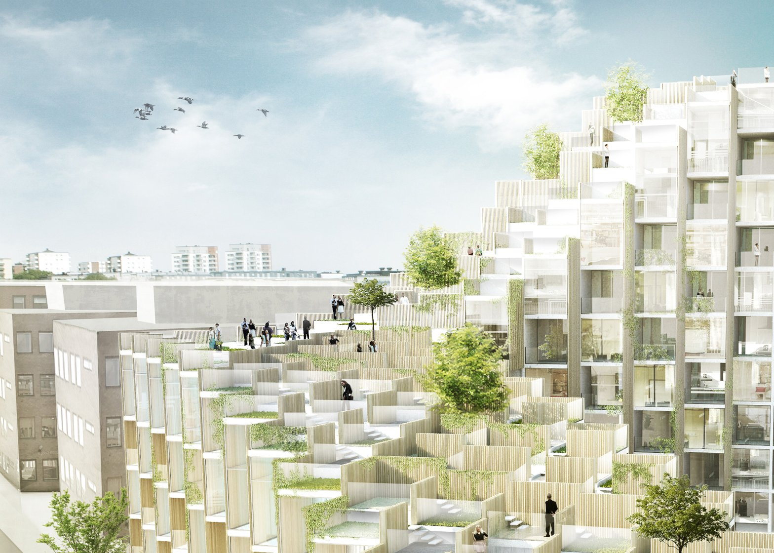 Big designs 79 park residential development for stockholm for Big architecte