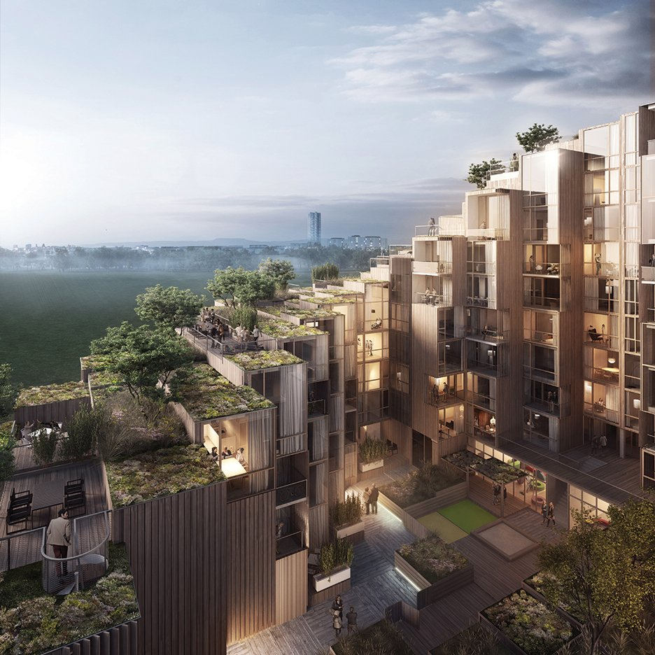 BIG designs stepped 79 & Park residential development for Stockholm