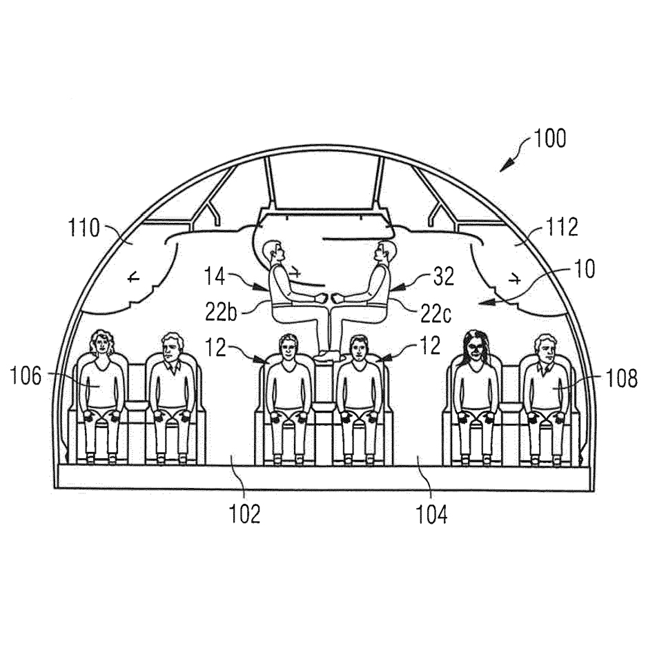 Airbus Stacking Aeroplane Seating Patent