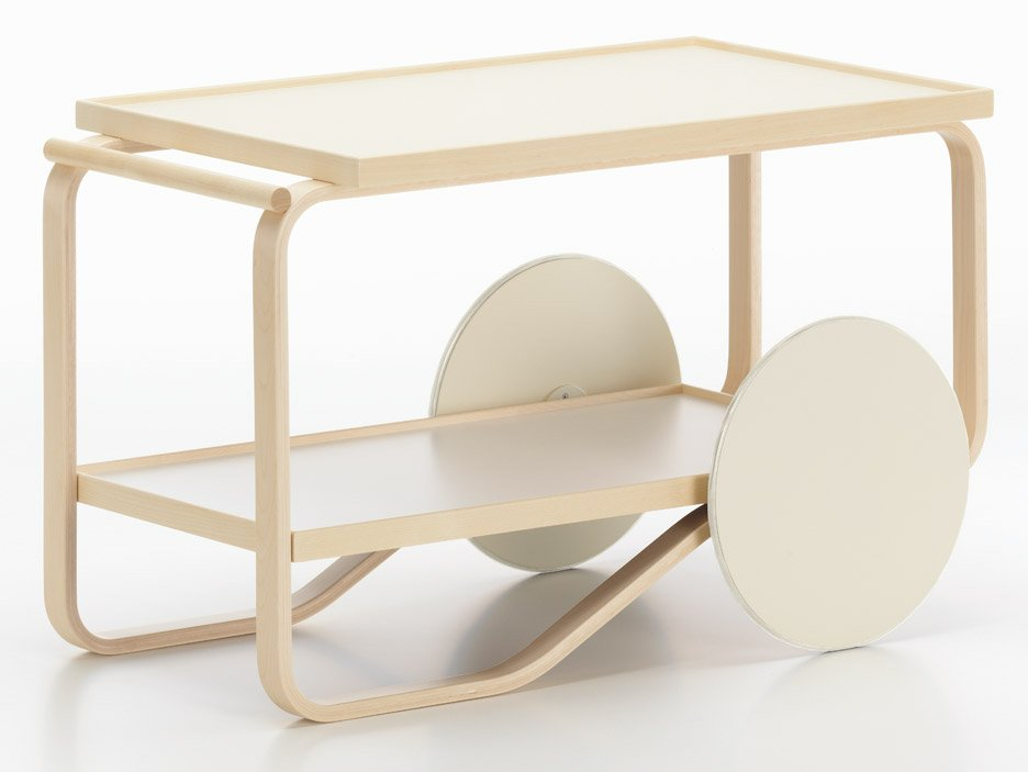 Alvar Aalto Tea Trolley re-interpreted by Hella Jongerius for Artek