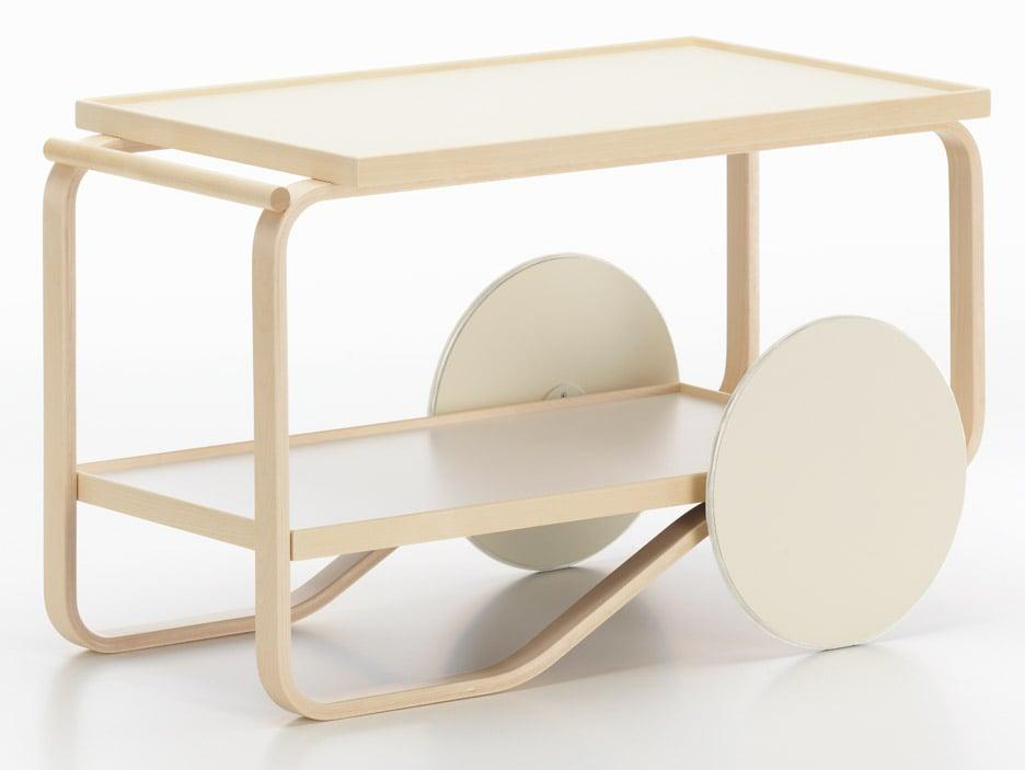 Alvar Aalto Tea Trolley re-interpreted by Hella Jongerius for Artek