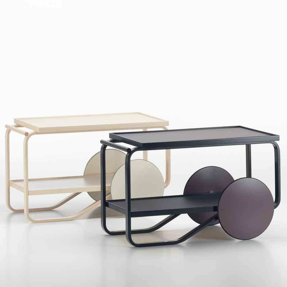 Hella Jongerius launches light and dark editions of Alvar Aalto tea trolley