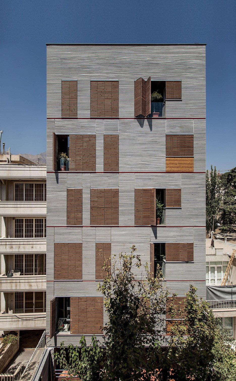 Ayeneh Office Gives Tehran Apartments A Textured Facade