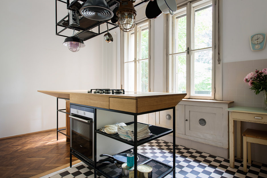 Apartment s by ifub dezeen 936 14 existing parquet flooring was uncovered