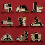 Kama Sutra reimagined as architecture by illustrator Federico Babina