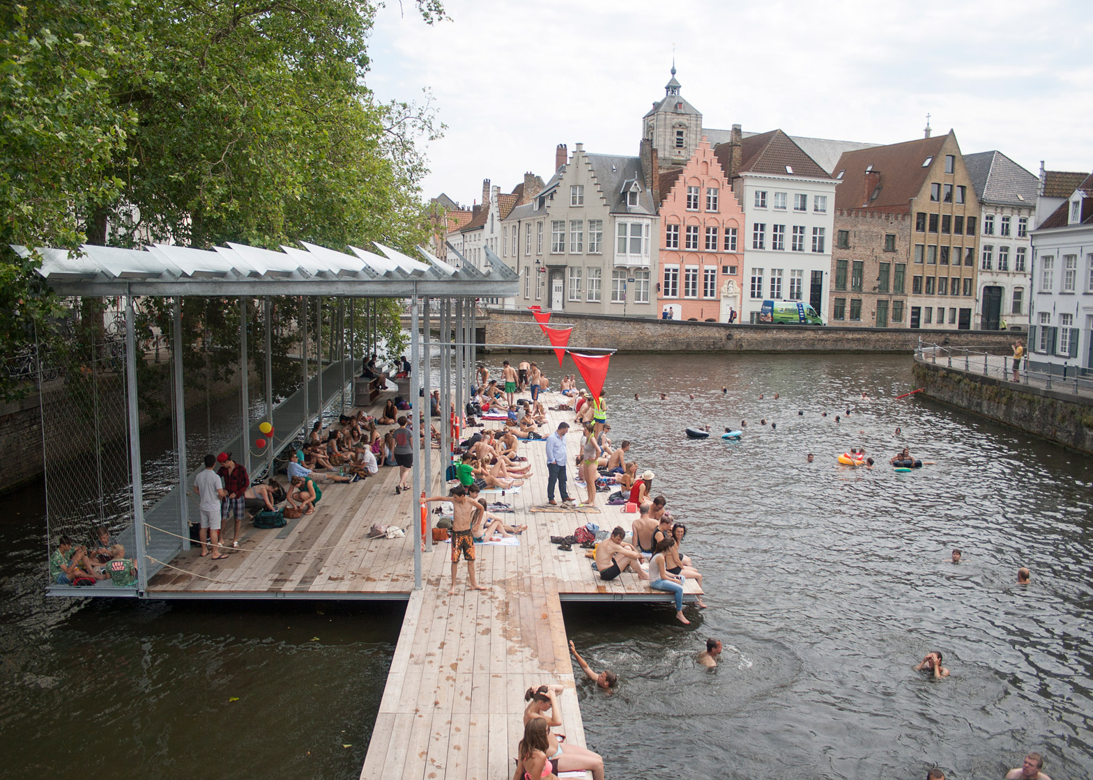 Canal Swimmer's Club by Atelier Bow-Wow + Architectuuratelier Dertien 12 for Belgian Triennial