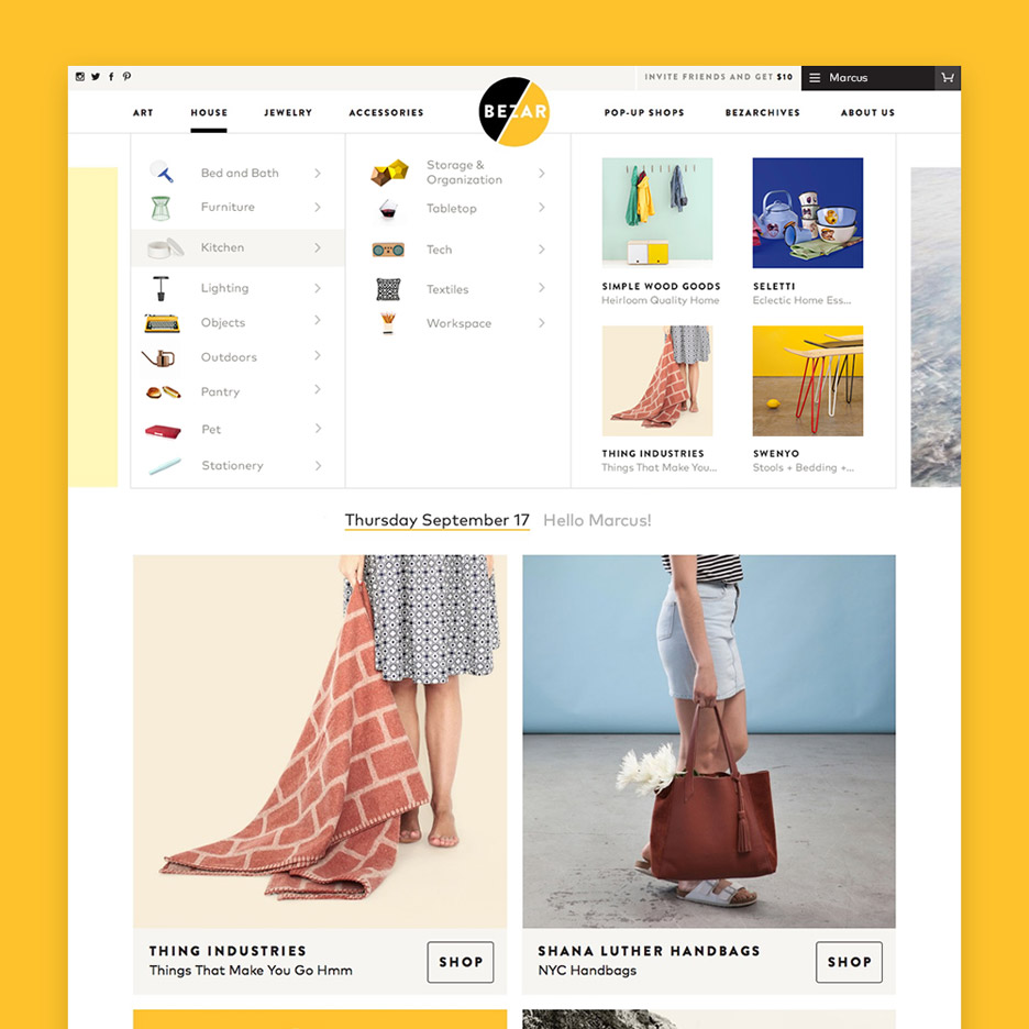 "Bezar launches e-commerce site Storefronts to offer a ""broad view of design"""