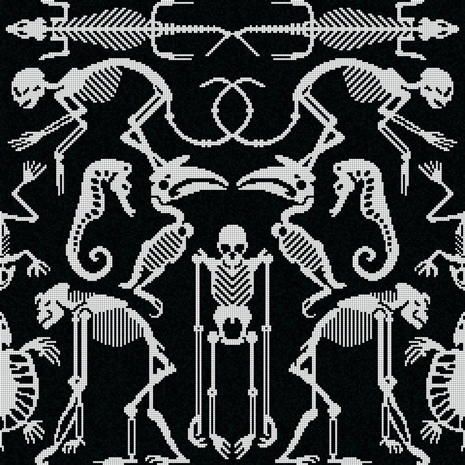 Skeleton tiles by Studio Job