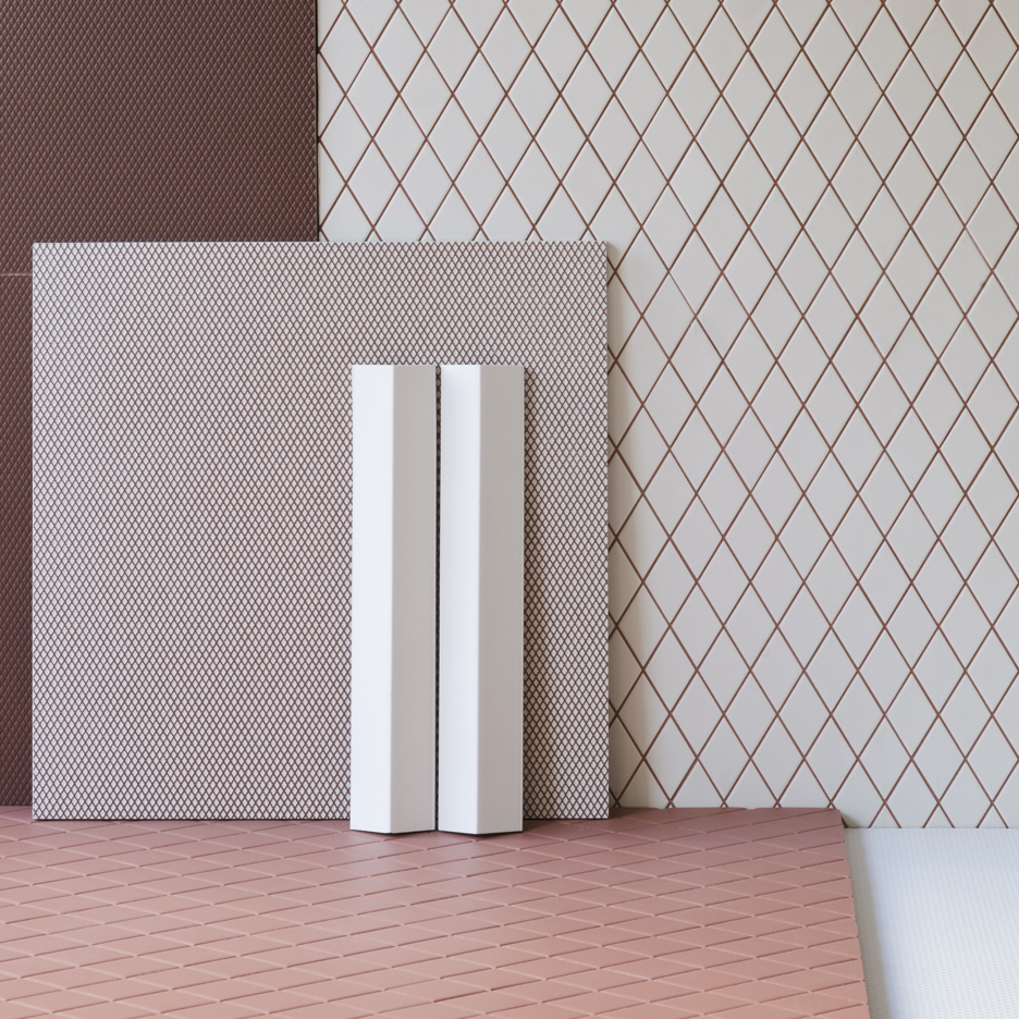 Bouroullec brothers design textured Rombini tile collection for Mutina