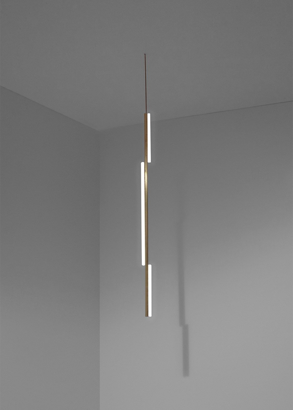 Brass lighting by Michael Anastassiades for One Well Known Sequence Exhibition