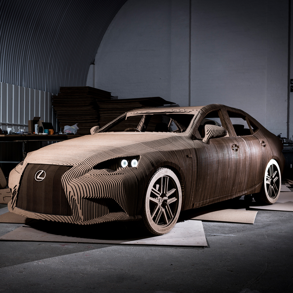 Cardboard Origami Car by Lexus