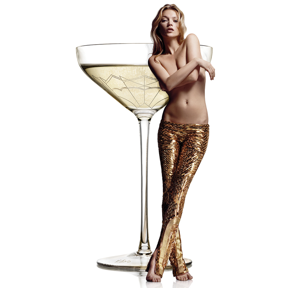 Champagne coupe moulded from Kate Moss' left breast