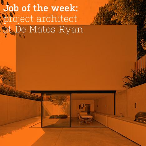 Job of the week: project architect at De Matos Ryan