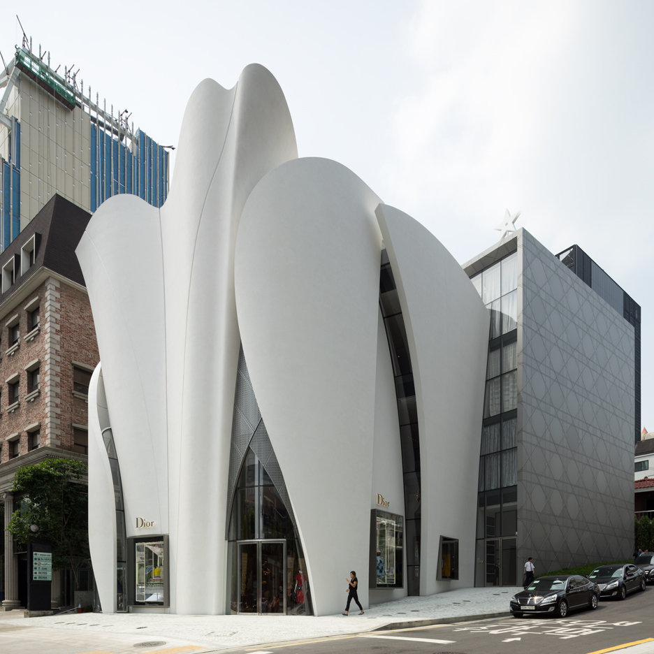 Dior Boutique in Seoul by Christian de Portzamparc