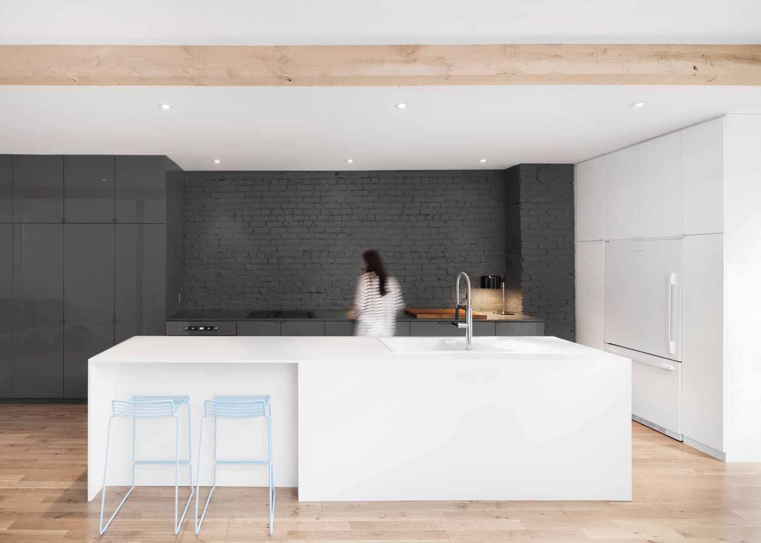 espace furniture. Anne Sophie Goneau Exposes Brickwork Within Montreal Apartment Renovation Espace Furniture