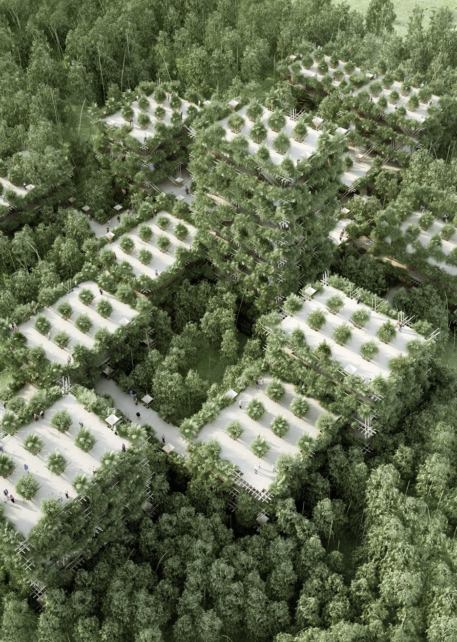 Penda unveils vision for bamboo city made from interlocking modular components