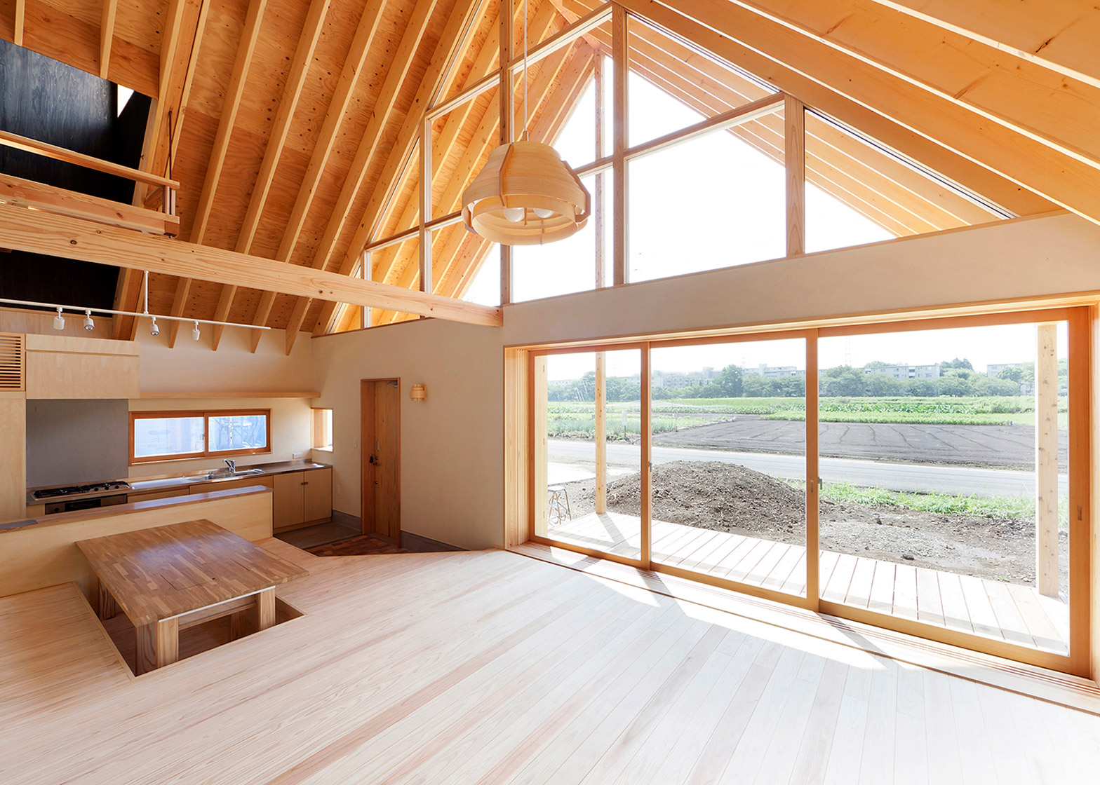 Gabled roof Kawagoe by Tailored Design Lab