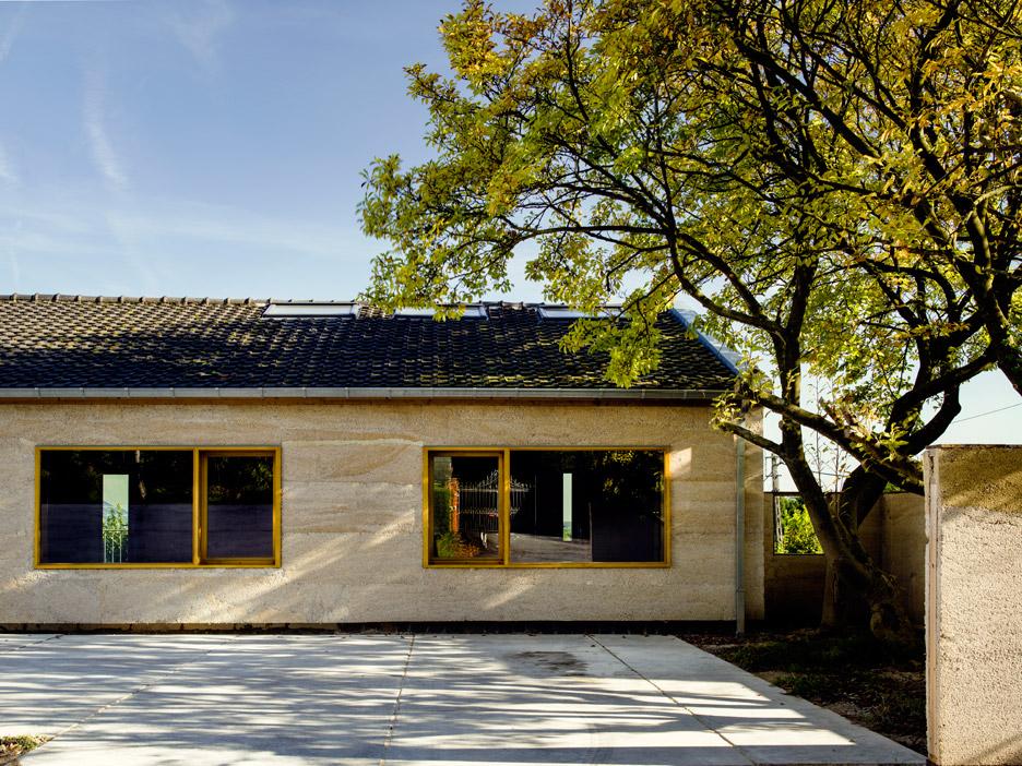Hempcrete house by Martens Van Caimere Architecten