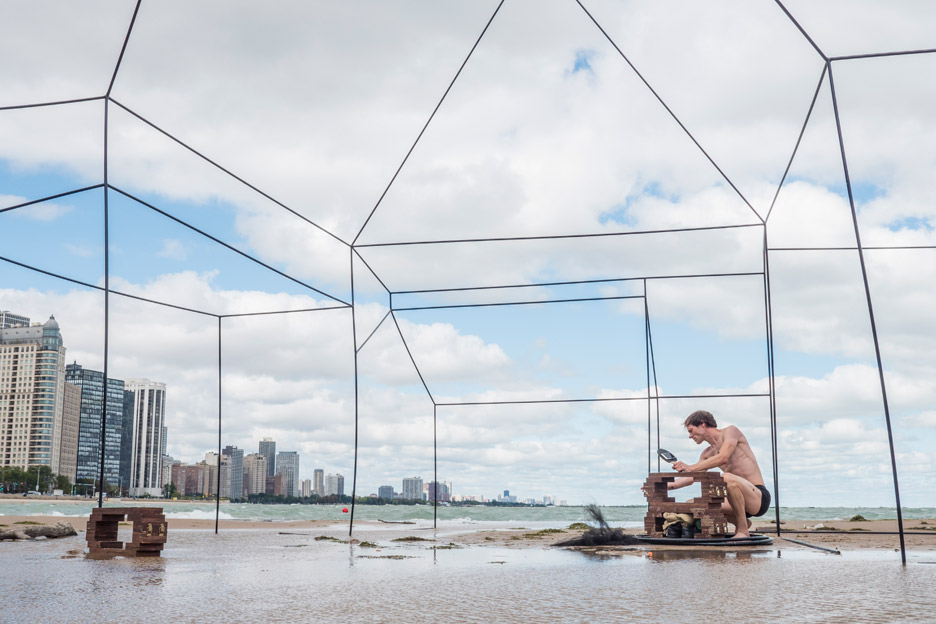 House installation by Sarah FitzSimons Chicago Architecture Biennial 2015