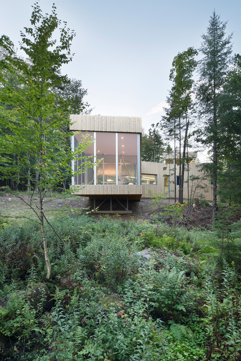 House on Lac Grenier by Paul Bernier