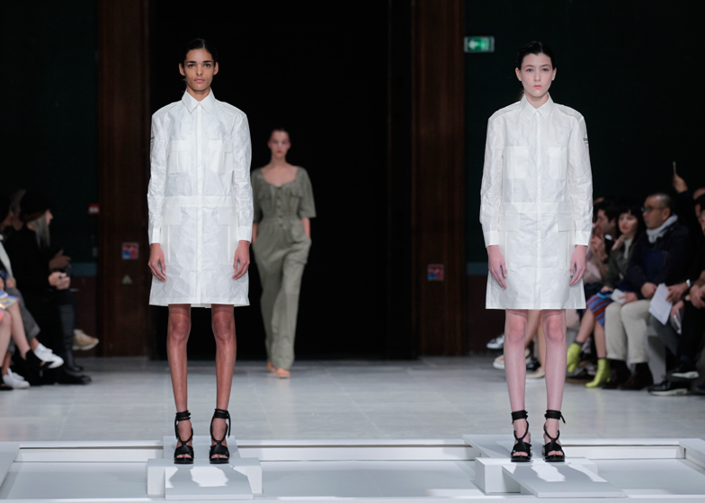 Clothes Dissolve On The Catwalk At Chalayan Ss16 Show
