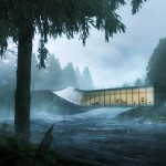 Twisted art museum by BIG to be built across a Norwegian river